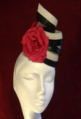 Black and White Candy Twist Hat