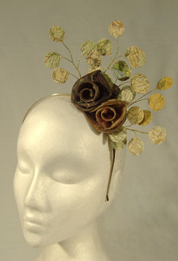 Honesty Map and Bronze Rose Headpiece