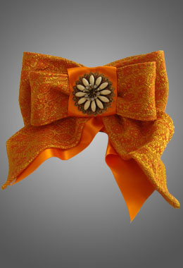 Orange Bow Brooch