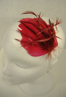 Pink Feather Hairband