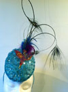Handmade Kingfisher Aqua Headpiece