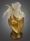Ivory and Gold Feather Twist Fascinator