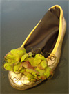 Pink and Green Silk Blossom Shoe Clips